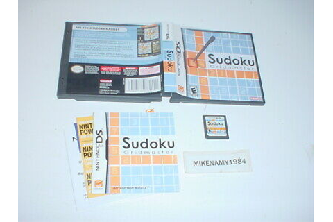 SUDOKU GRIDMASTER puzzle game complete in case w/ manual ...
