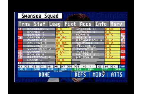 Championship Manager 93 94 - YouTube