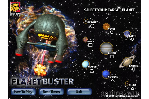 Planet Buster. Download and Play Planet Buster Game ...