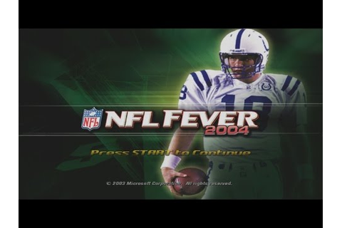 NFL FEVER 2004 gameplay - YouTube