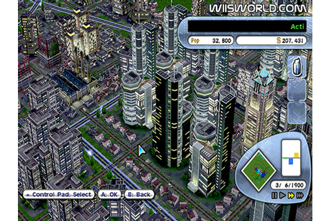 SimCity Creator on Wii