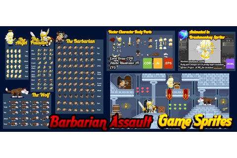 Buy Barbarian Assault - Game Sprites - For UI Graphic ...