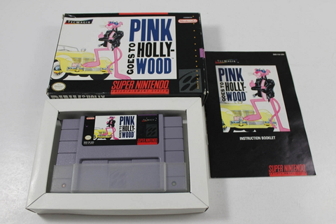 PINK GOES TO HOLLYWOOD- COMPLETE SUPER NINTENDO SNES Game!
