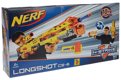 Nerf N-Strike Elite Longshot Cs-6 Yellow Toy Gun Game Play ...