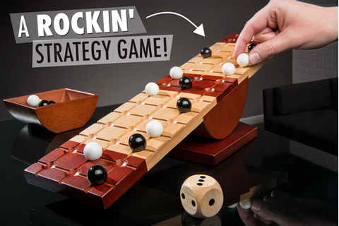 Rock Me Archimedes: Teeter-totter balancing board game.