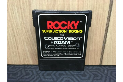 Rocky Super Action Boxing Colecovision Video GAME & MANUAL ...