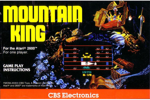 Atari 2600 VCS Mountain King : scans, dump, download ...