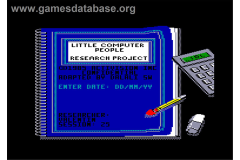 Little Computer People - Amstrad CPC - Games Database