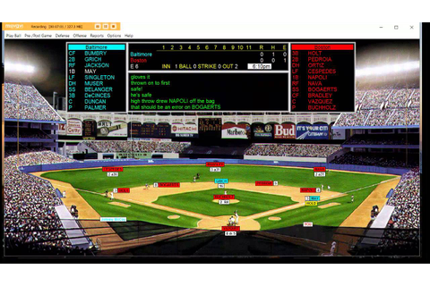 Apba Baseball's Computer Version - YouTube