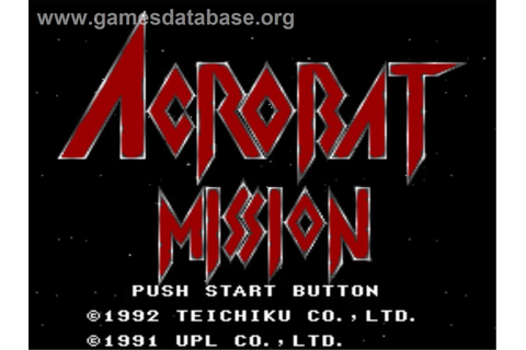 Acrobat Mission - Nintendo SNES - Games Database