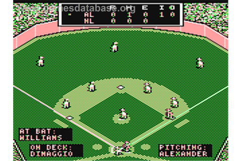 MicroLeague Baseball - Commodore 64 - Games Database