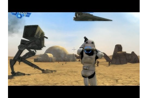 Star Wars Battlefront 1 gameplay Tatooine Dune Sea ...
