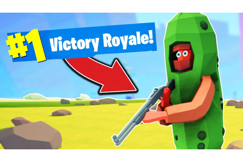 MY FIRST *VICTORY ROYALE* in Totally Accurate ...