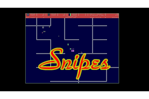 Snipes, SDL clone of NetWare/DOS game - YouTube