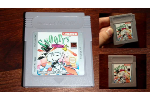 Snoopy's Magic Show - original Game Boy game - YouTube
