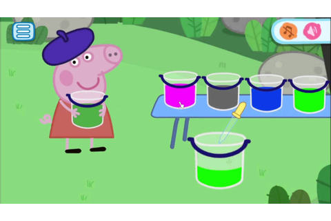 Peppa Pig Mini Games Color Mixing Part 1 - best app demos ...