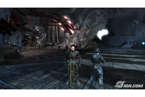 Too Human. A game for the XBox 360. Lots of large ...