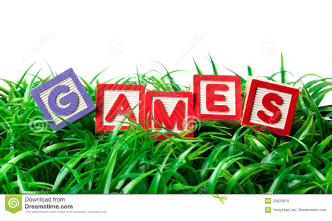 Outdoor games stock image. Image of spelling, english ...