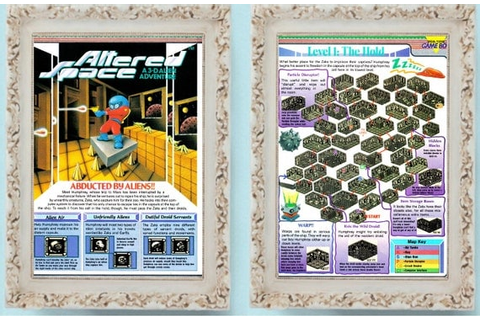 2 Page Altered Space 1991 Nintendo Game Boy Vintage Video Game