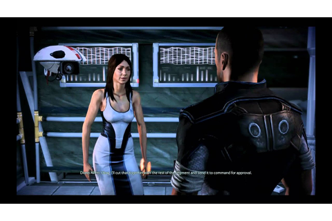 Mass Effect 3 pc game, Diana Allers romance - YouTube