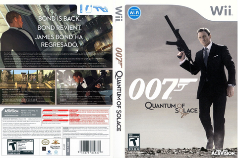 Games Covers: 007 - Quantum Of Solace - Wii