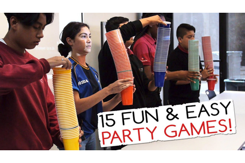 15 Fun & Easy Party Games For Kids And Adults (Minute to ...