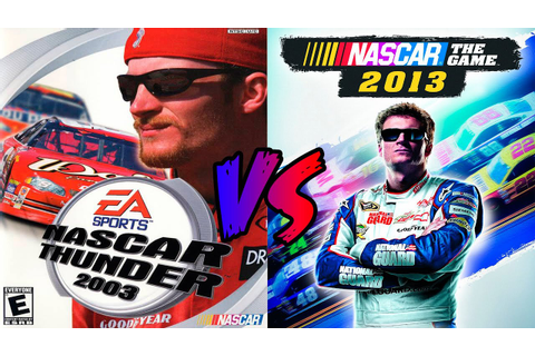 NASCAR Thunder 2003 vs NASCAR The Game 2013 - YouTube