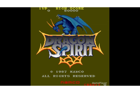 Dragon Spirit (Demo) 1987 Namco Mame Retro Arcade Games ...