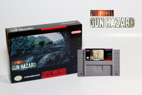 SNES Front Mission: Gun Hazard Super Nintendo Game Cart & Box
