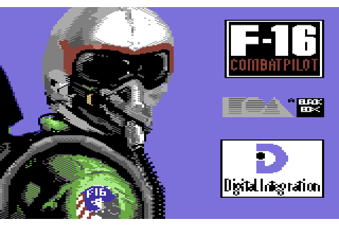 F-16 Combat Pilot (1990) by Digital Integration C64 game