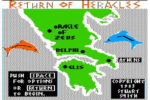 The CRPG Addict: Game 153: The Return of Heracles (1983)