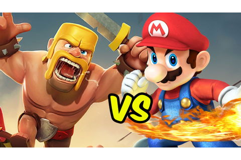 CLASH OF CLANS vs MARIO | Video Game Mashup - YouTube