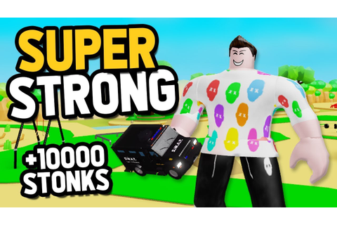 i became SUPER STRONG in Roblox Lifting Simulator - YouTube