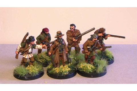 Warlord Games: French-Indian War Frontiersmen B - YouTube