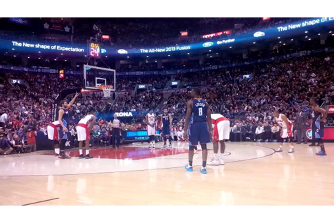 Courtside Seats at the Toronto Raptors - YouTube