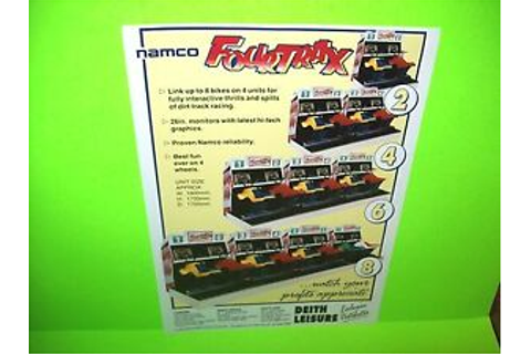Namco FOUR TRAX Original NOS 1989 Video Arcade Game Promo ...