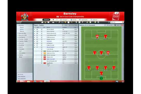 Football Manager 2009 gameplay on the PC. (Part1) - YouTube