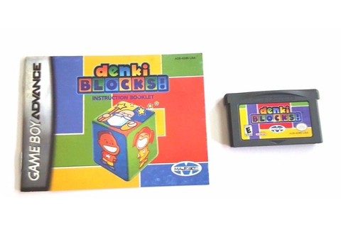 Gameboy Advance Game GBA SP DS DENKI BLOCKS + Manual Solve ...