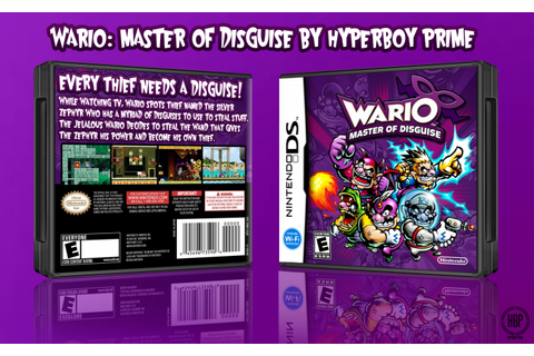 Wario: Master of Disguise Nintendo DS Box Art Cover by ...