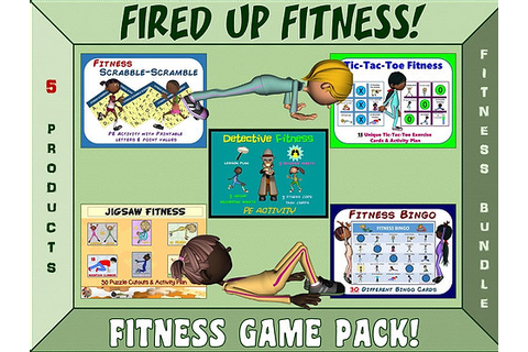 Fired up Fitness: 5 Product Fitness Game Pack BUNDLE ...