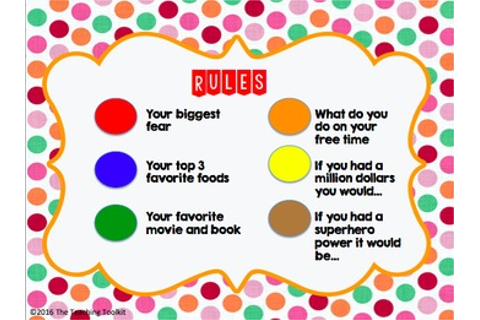 M&M Ice breaker game- EDITABLE by The Teaching Toolkit | TpT