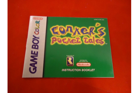 Conker's Pocket Tales Nintendo Game Boy Color Instruction ...