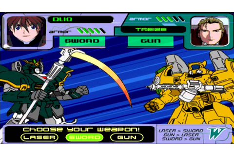 Gaming Flashbacks - Wing Assault (Gundam Wing Flash Game ...