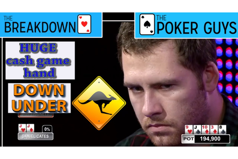 The Breakdown: Huge Cash Game Moment Down Under - YouTube