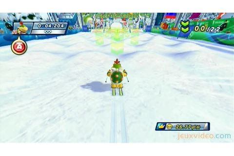Gameplay Mario & Sonic aux Jeux Olympiques d'Hiver : Ski ...