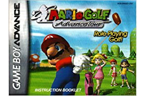 Mario Golf Advance Tour GBA Instruction Booklet (Game Boy ...