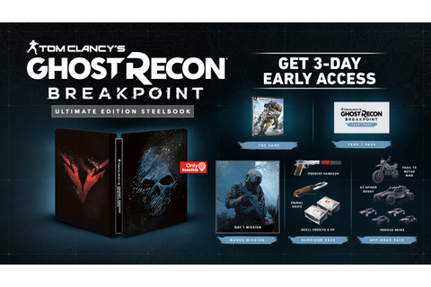 Ultimate Edition Steelbook Ghost Recon Breakpoint ...