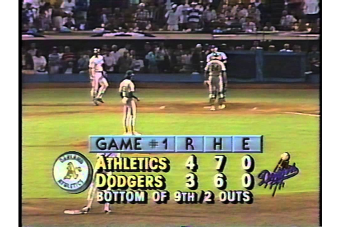 Kirk Gibson's 1988 World Series historic home run-great ...
