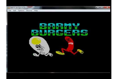 Barmy Burgers - Bobby Burgers - ZX Spectrum - emulador ...