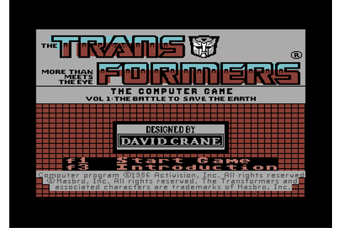 Download The Transformers: Battle to Save the Earth (Commodore 64 ...